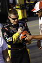 NASCAR - Jeff Burton Signs Autographs for Fans Stock Photo