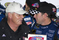 NASCAR Jimmie Johnson and Rick Hendrick Stock Image
