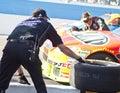 NASCAR's Jeff Gordon's pit stop on pit lane Royalty Free Stock Photo