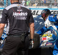 NASCAR Sprint Cup Series Pit Stop Royalty Free Stock Photo