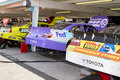NASCAR Top Sprint Cup Contenders Garage Stock Photos