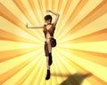Nascer do sol um de Top Model Imagem de Stock
