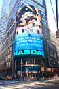NASDAQ billboard in Times Square Royalty Free Stock Image