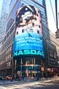 NASDAQ billboard in Times Square Royalty Free Stock Photo
