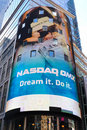 NASDAQ Headquarters in Times Square Stock Image