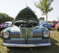 Nash ambassador aqua blue car front view waupaca wi august of at waupaca rod and classic show august in waupaca wisconsin Royalty Free Stock Photo