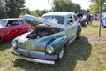 Nash ambassador aqua blue car waupaca wi august a at waupaca rod and classic show august in waupaca wisconsin Stock Photos