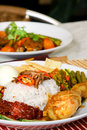 Nasi lemak traditional Royalty Free Stock Photos