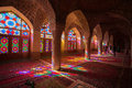 Nasir al mulk mosque shiraz iran Stock Photo
