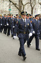 Nassau County Police officers marching at the St. Patrick's Day Parade Royalty Free Stock Photo