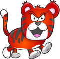 Nasty mean tiger vector illustration art Stock Photos