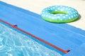 Natación-correa cerca de la piscina Imagenes de archivo