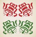 Natal dois sinos Fotografia de Stock
