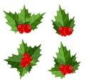 Natale berry sign vector illustration Fotografia Stock Libera da Diritti