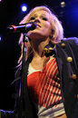 Natasha Bedingfield performing live Royalty Free Stock Images