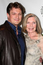 Nathan Fillion, Susan Sullivan Royalty Free Stock Photo