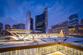 Nathan phillips square in toronto canada Royalty Free Stock Photo