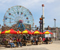 The nathan s reopened after damage by hurricane sandy at coney island boardwalk brooklyn new york april on april original Stock Images