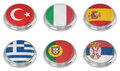 Nation flag icon set Royalty Free Stock Photo
