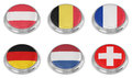 Nation flag icon set Royalty Free Stock Photography
