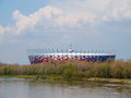 Nationaal Stadion in Warshau, Polen Stock Fotografie