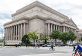 National archives building washington dc the facade of the with its bas relief and corinthian columns nwashington Stock Images