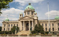 National assembly of serbia in belgrade Stock Photo