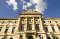 The national bank of romania facade on august Stock Photo