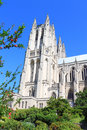 National cathedral washington at dc united states on blue sky Stock Photo