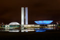 National congress building brasilia night Stock Images