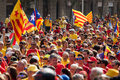 National day of catalonia barcelona spain september rally to th anniversary loss independence Stock Image