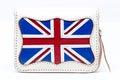 National England flag wallet on white background. Royalty Free Stock Photo