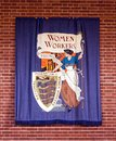 National Federation of Womens Workers Banner. Royalty Free Stock Photo