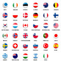 National flag ball of OECD members Stock Images