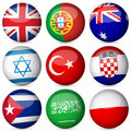 National flag ball set Stock Photos