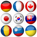 National flag ball set 3 Stock Photos