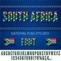 National Flag Font Royalty Free Stock Photo