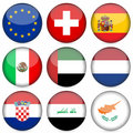 National flag icon set  Stock Photos