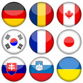 National flag icon set 3 Royalty Free Stock Photography