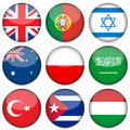 National flag icon set 4 Royalty Free Stock Photo