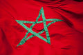 National flag of morocco green star on red background Royalty Free Stock Image