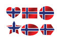 National flag of norway an images idea design Royalty Free Stock Image