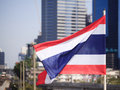 National flag of Thailand Stock Images