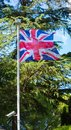 National flag of the United Kingdom is the Union Jack, also know Royalty Free Stock Photo