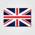 National flag of United Kingdom Royalty Free Stock Photo