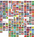 The national flags of all countries of the world Stock Photo