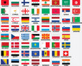National flags of all european countries Stock Image
