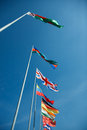 National flags of different countries Royalty Free Stock Photography