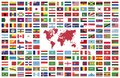 Country Flags of the World Royalty Free Stock Photo