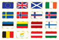 National flags - European set Stock Image